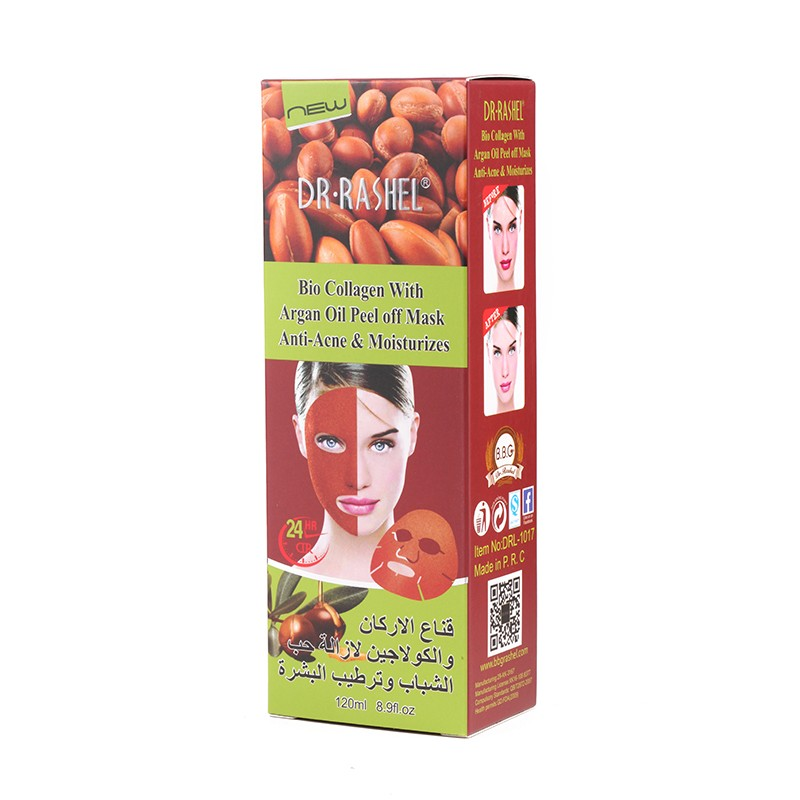 DR.RASHEL 120ml Collagen Argan Oil Anti Acne facial mask Moisture Peel Off face Mask