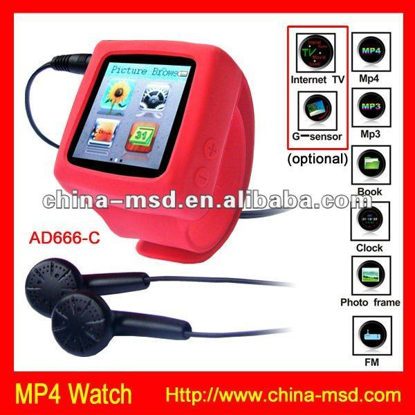 2012 Promotional 2GB card Gift Fashion Mp4 Watch