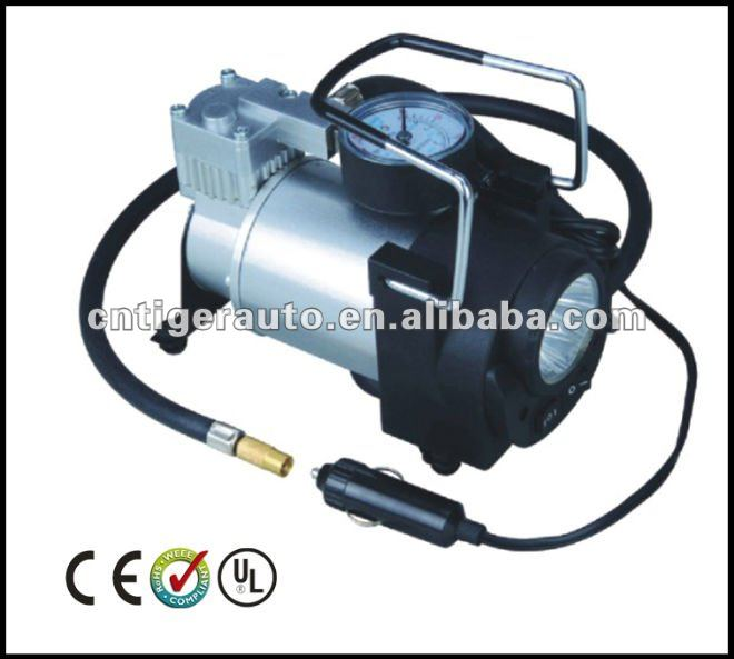 Compact 12V Air Compressor Car Tyre Inflator with lamp