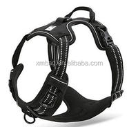 Best Front Range Dog Harness. 3M Reflective Outdoor Adventure Pet Vest with Handle and Two Leash Attachments
