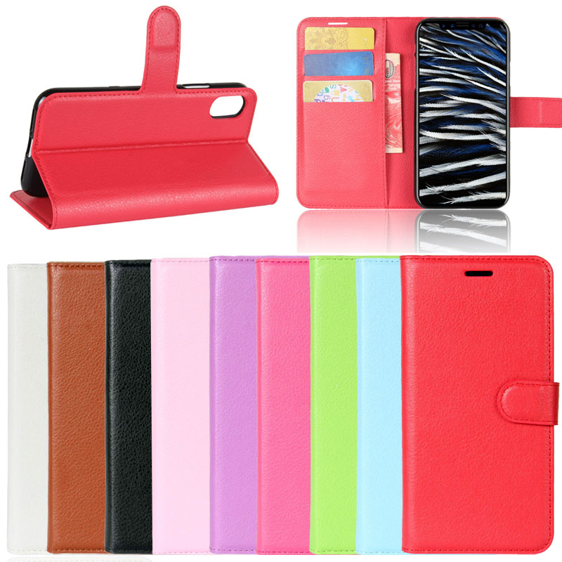2017 new litchi leather cell phone case for iphone 8,for iphone 8 wallet case cover accessories