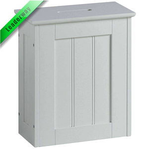 Ultra-thin storage basket white colonial style toilet paper storage cabinet