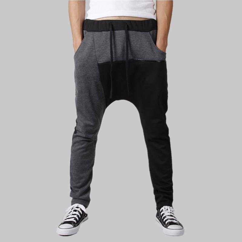 fb01208ce Yihao nuevo remiendo de la manera pantalones para hombre hip hop harem pantalones  hombres jogging sweatpants