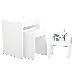 TrippNT White PVC Bench Top Lab Equipment Tables (13x8x12)