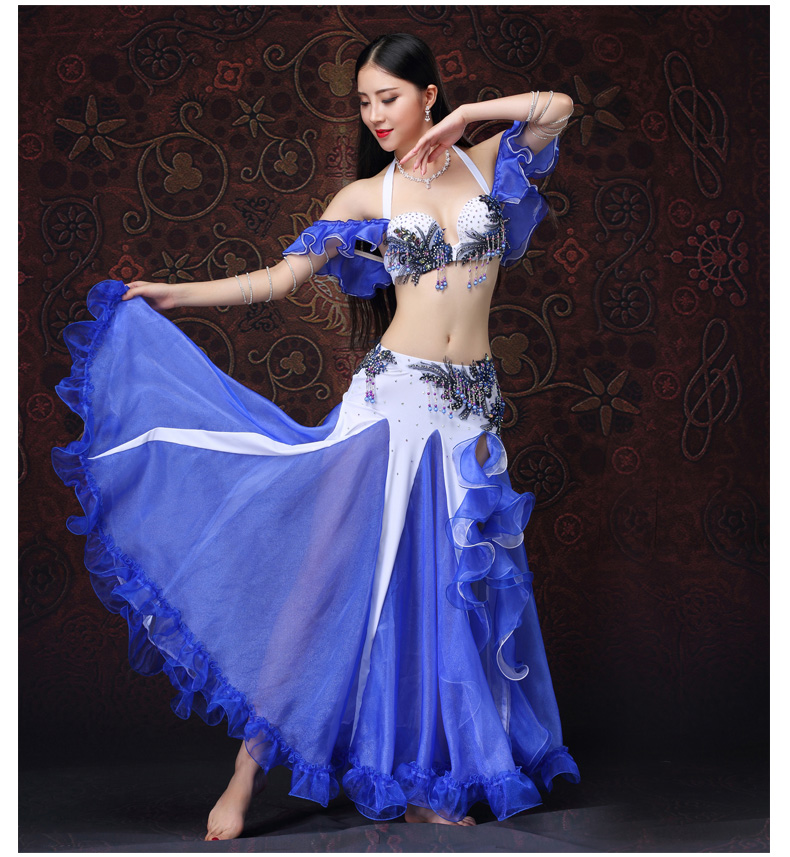 New professional rhinestone egyptian belly dance costumes