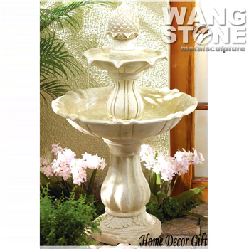 2 tier small indoor decorative marble water fountain
