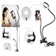 Clip On Selfie Ring Light 360 Rotating with Cell Phone Holder For iPhone 7 8 Plus Live Stream Video Chat Facebook Yutube