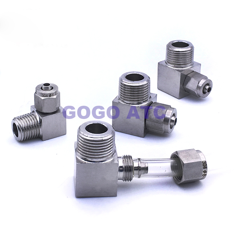 Snelkoppeling ZG1/4 '', OD 6mm buitendraad PU Nylon buis snelle twist slang rvs 304 L connector type tank pijp fitting