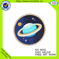 Fashion Color planet shaped cheap embroidery patches for clothing