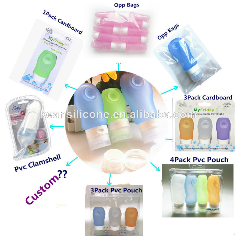 Bpa Free Silicone Travel Tube Rubber Silicone Squeeze