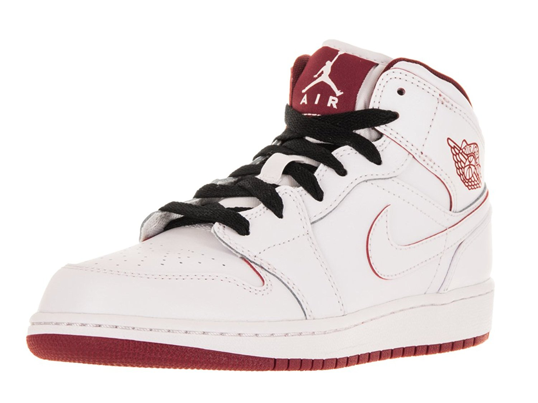 quality design e870f bb158 Get Quotations · Nike AIR JORDAN 1 MID BG boys basketball-shoes 554725