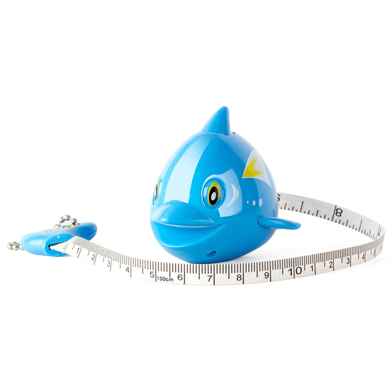 2014 hot mini cute dolphin measure tape with key ring