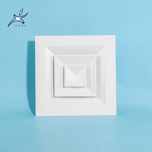 cheap ceiling air vent deflector square with Damper Factory Sale