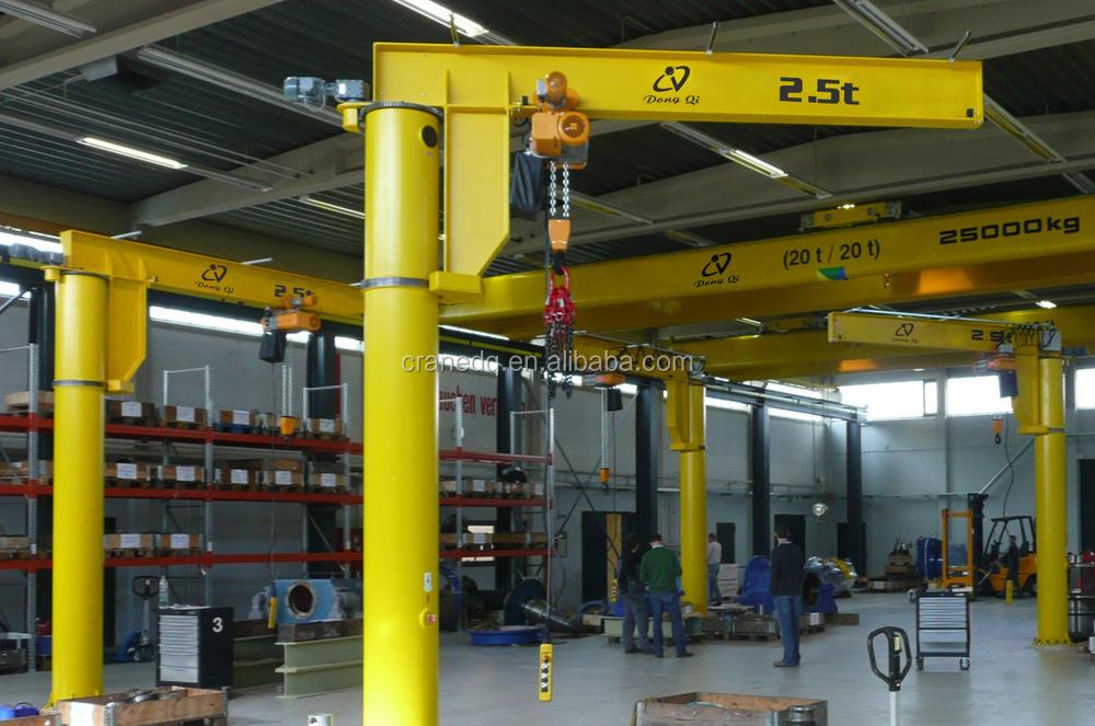 Plant Used Column Jib Crane Rotate 360 Degree With