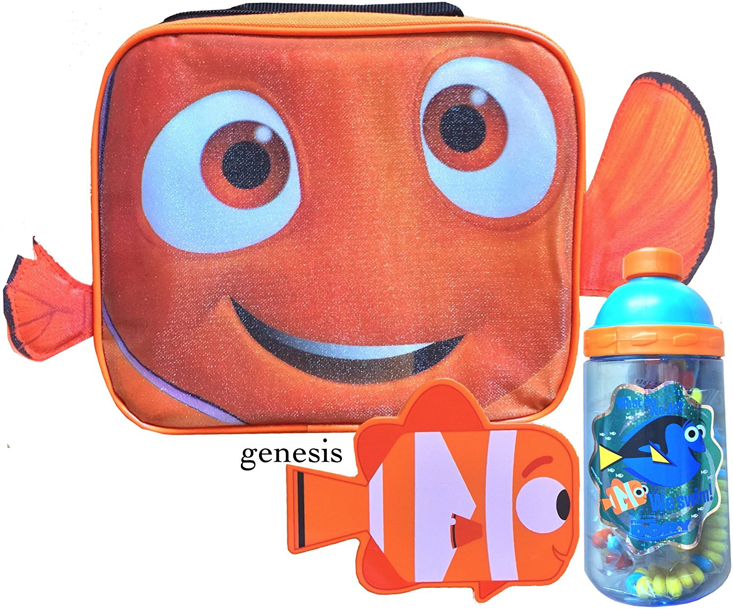 Disney Finding Dory & Nemo Children's Insulated Lunch Box, Snack Container & Water Bottle Back To School Specials Lunch Kits (Tumbler Bottle, Nemo)