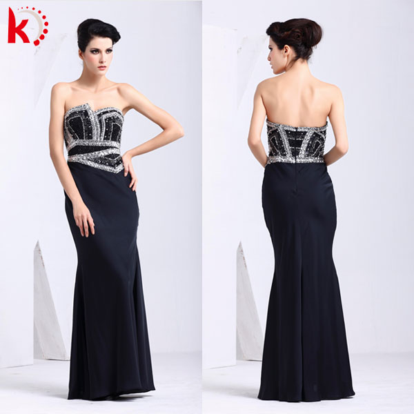 Off shoulder corset jacket evening dress with sequins formal dress for women