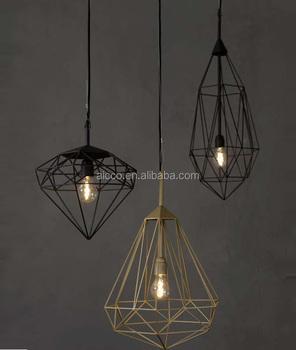 Wire Cage Modern Hanging Replica Pendant Led Lighting Lamp Restaurant Decorative Light Indian