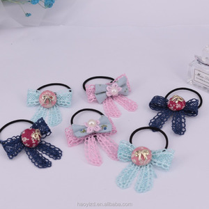 Factory direct supply hair ornaments tie hair band elastic bowknot
