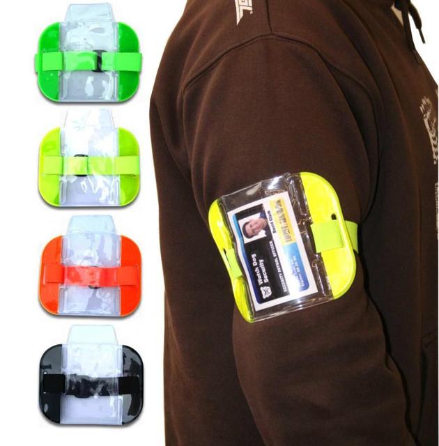 Blue Armband Reflective Armband /& Double SIA Badge Holder SIA Security Kit Includes Reflective Security Lanyard