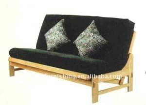 Brazo sof cama de madera de cipr s sof s para la sala de for Sofa cama inflable
