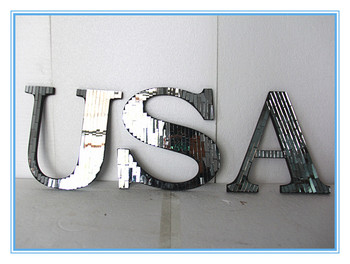 Mosaic Glass Wall Usa Letters Acrylic Office Mirror Wall Letters With  Wooden Body - Buy Mirror Wall Letters,Wall Letters,Wall Letters Product on