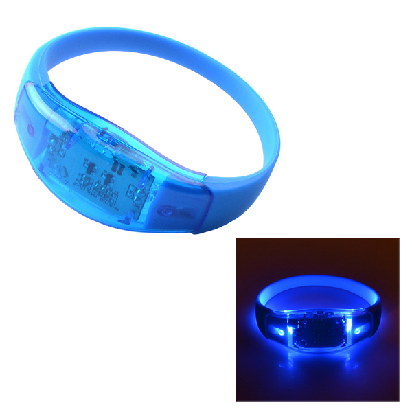 Christmas Promotional <strong>Gift</strong> 25cm Battery Operated Sound Activated LED Luminous Silicon Bracelet