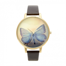 Top Quality Women Leather Vintage Bracelet Watch Wristwatches Wing butterfly Retro Watch