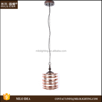 Glass Shade Modern Hanging Light Pendant Lamp