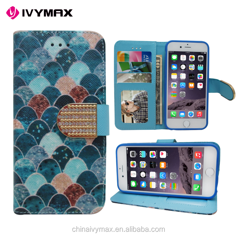 2016 hot item china cellphone accessories new flip leather wallet case for iphone 6 case