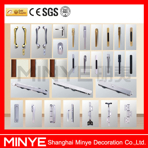 Factory product double tempered glass aluminum profile shutter/louver window crank devices hardware
