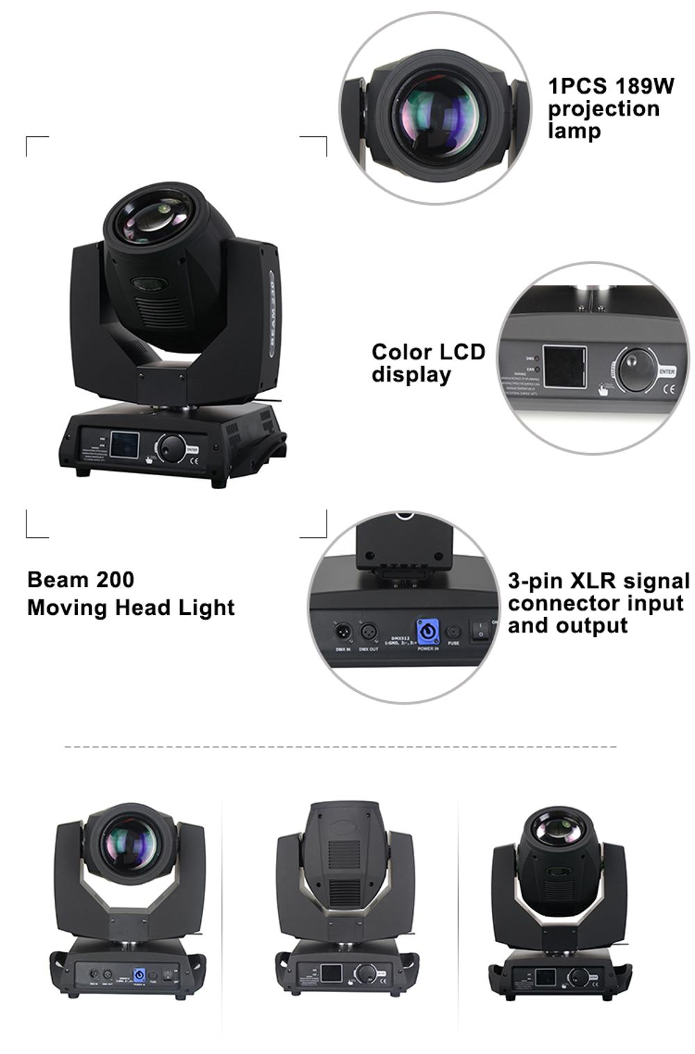 189w moving lamp stage