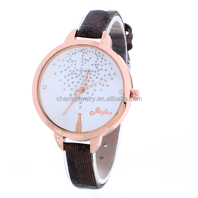 New Arrived Watch Small PU Bands With Big Face Watch Lady Watch BWL255