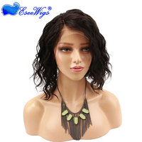 Virgin Remy Full Lace Human Hair Natural Looking Bob Wigs