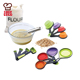 Portable Collapsible Folding Silicone Measuring Cups and Spoons Set(8-Piece)