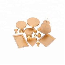 Metalen Stand Opknoping Crystal Gold Set Plaat Display Decoratie <span class=keywords><strong>Cake</strong></span> Decorating Tool