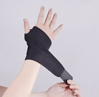 Adjustable breathable neoprene wrist supports