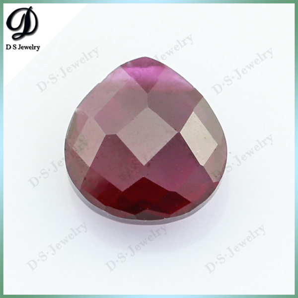 Popular Pear Cut Dark Red Corundum Fancy Color Diamonds