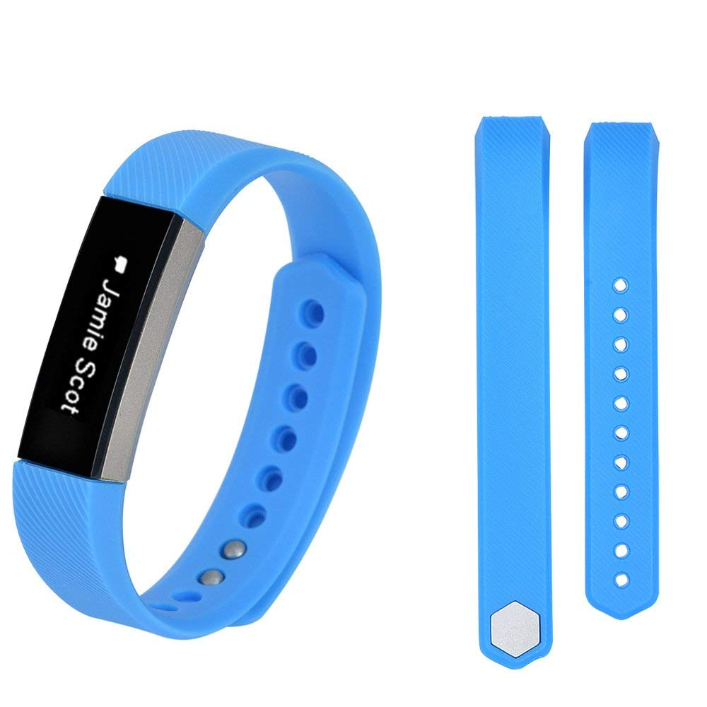iRECOO-Fitbit Alta Quick Fit Replacement Band,Silicone Smart Watch Replacement Band for Fitbit Alta. (Sky Blue)