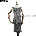 maternity shirring knitted dress