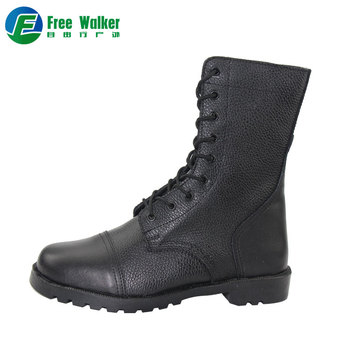 Wholesale Men German style black genuine leather tactical military police  safety boots 0b5467cdc