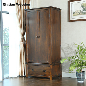 Solid wood wardrobe bedroom furniture wooden cabinets american luxury style furniture