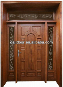 Luxury Wooden Main Entrance Doors Design With Side Lite Transom Dj S8453msths
