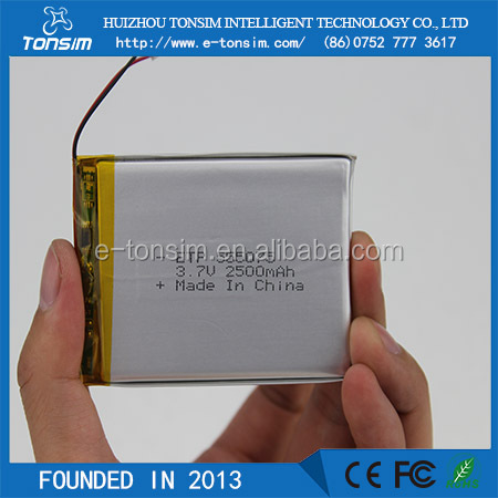 Tonsim Cheap Wholesale Graphene Battery 3.7v 2500mah 555075 Polymer Battery