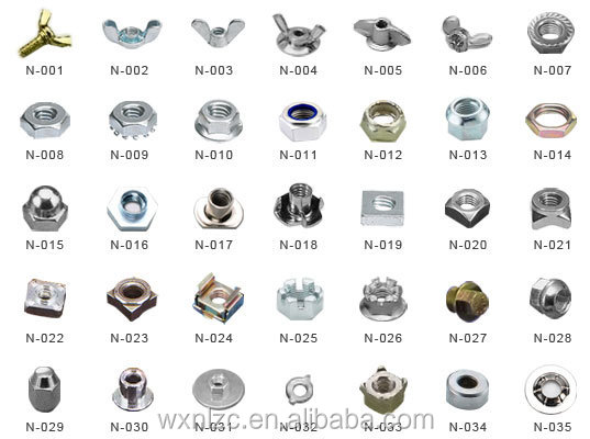 quality steel nickel plated male female decorative screw nut bolts sample offer - Decorative Screws