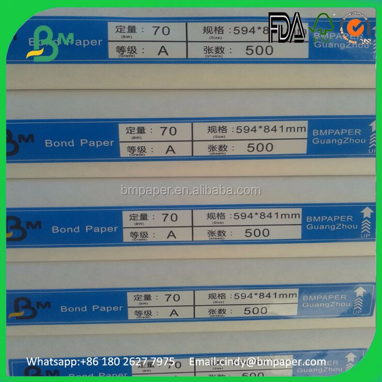 Facotry Sell 70gsm 80gsm 90gsm 100gsm 120gsm Uncoated Offset Paper