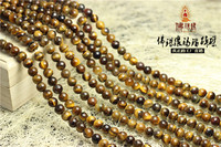 wholesales DIY round tiger eye bead,natural yellow tiger eye beads
