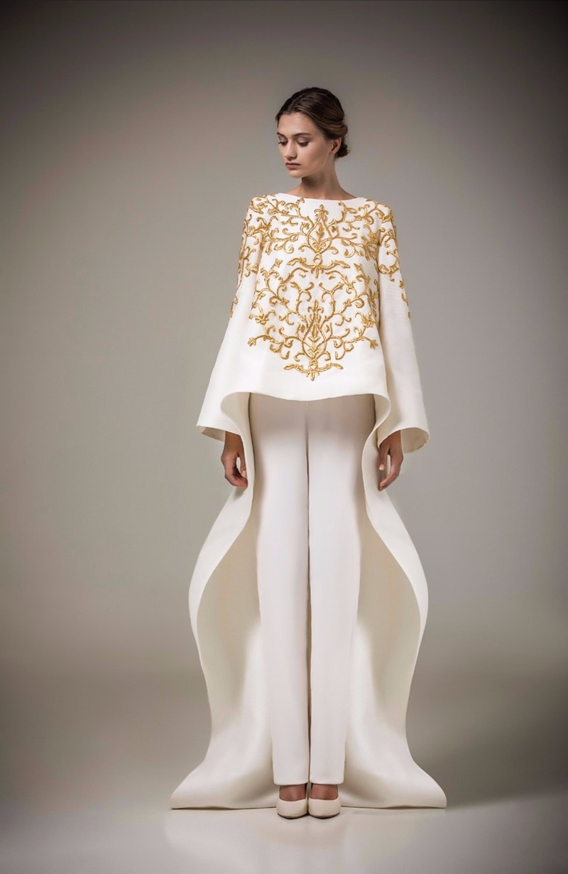 New Designer Gold Embroidery Evening Dresses 2016 Party