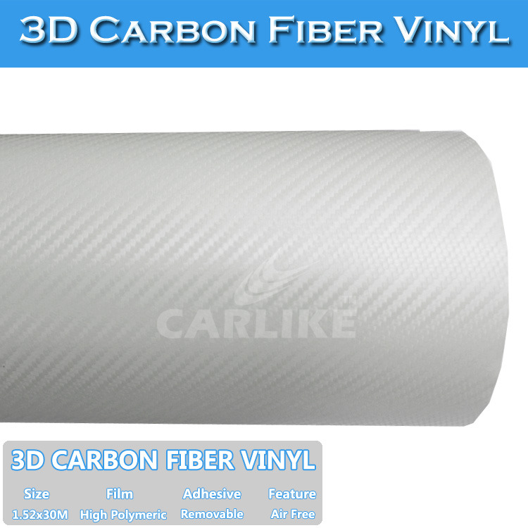 CARLIKE Colorful 3D Transparent Carbon Fiber Vinyl Car Wraps Film