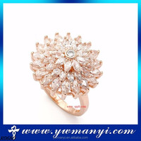 New York Fashion Jewelry New Products Different Flower Full Crystal Ring Jewelry Accessories R0680