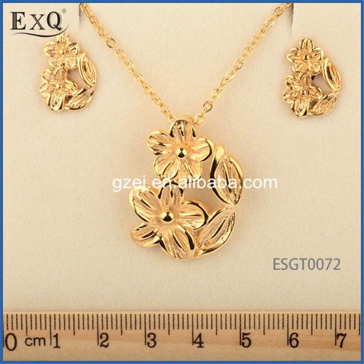 18k Gold Jewellery For Wedding Jewelry Sets Dubai Bridal - Buy ...